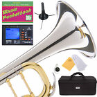 MENDINI Bb TRUMPET NICKEL PLATED DOUBLE-BRACED MONEL PISTON -MTT-30CN