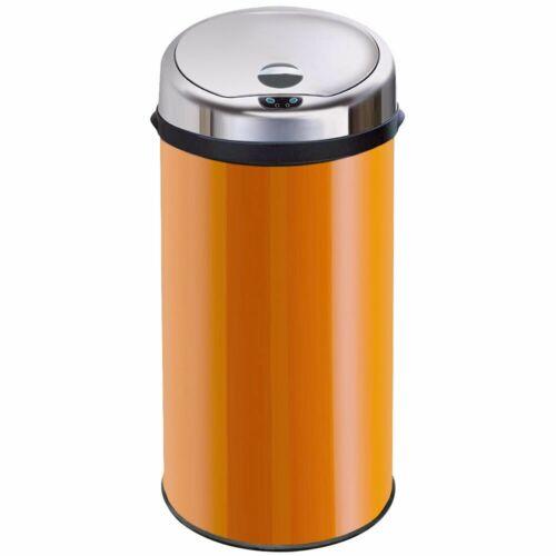 Inmotion 42L Orange Stainless Steel Auto Sensor Kitchen Waste Dust Bin