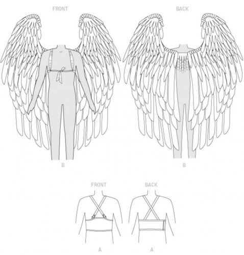 McCalls Cosplay Mens /& Ladies Sewing Pattern 2015 Belt /& Wings with H...