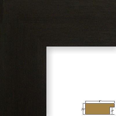 "Craig Frames Bauhaus, 2"" Modern Black Coffee Picture Frame"