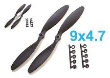 "4pcs 9x4.7"" Slow Flyer SF Electric Propeller w/ Adapters, US 001-00309B"
