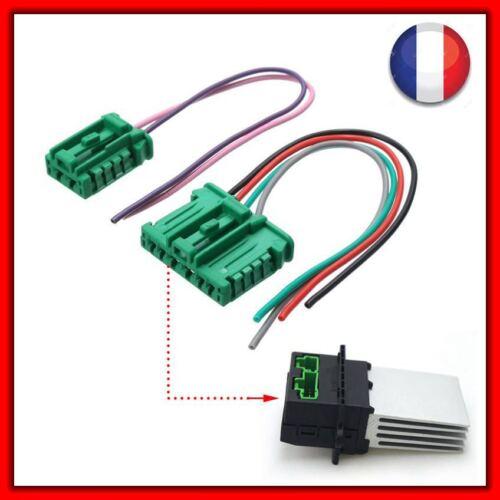 2 conectores módulo Regulador resistencia de calefacción Citroen Peugeot Renault