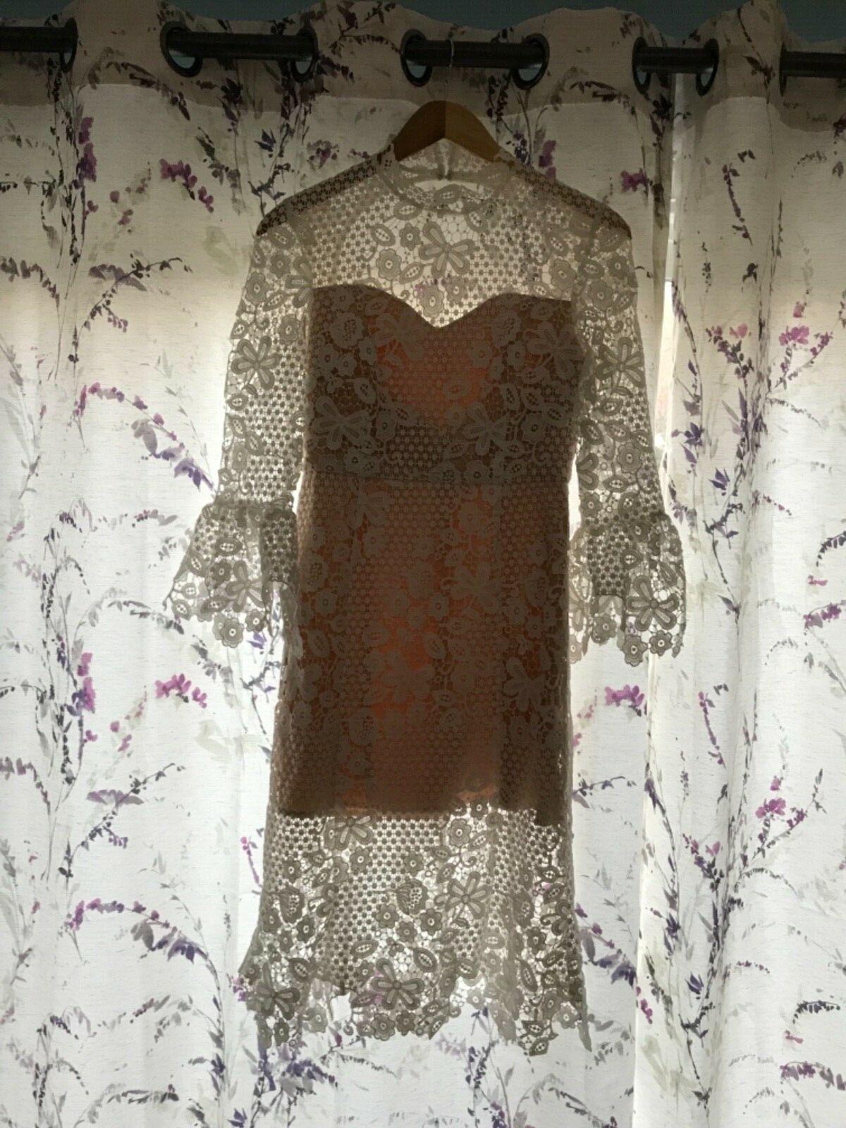 NEW Free People Weiß Lace Midi Dress Größe Small