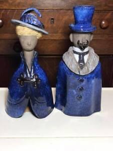 Pair-of-10-tall-Elsi-Bourelius-Jie-Gantofta-Figurines-Made-in-Sweden