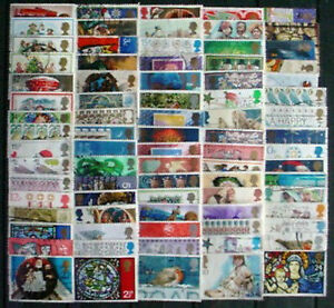 80 DIFFERENT GREAT BRITAIN CHRISTMAS COMMEMORATIVE USED STAMPS - <span itemprop=availableAtOrFrom>DURHAM, Durham, United Kingdom</span> - 80 DIFFERENT GREAT BRITAIN CHRISTMAS COMMEMORATIVE USED STAMPS - DURHAM, Durham, United Kingdom