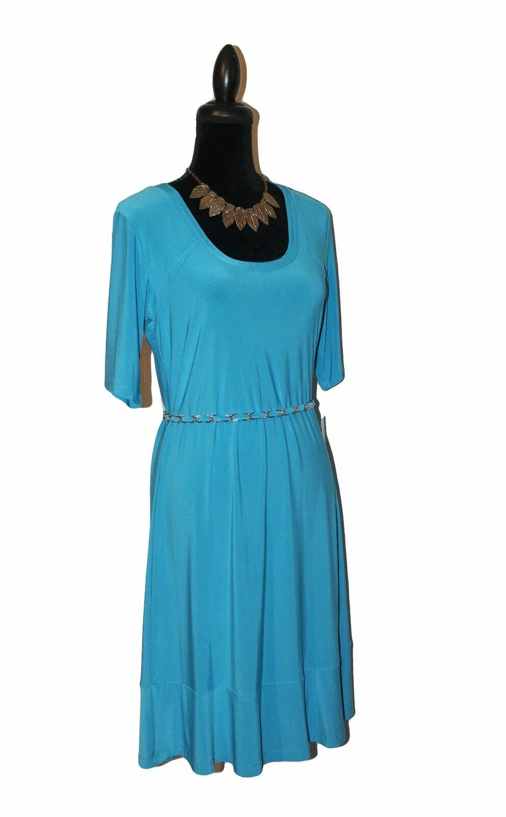 NWT NWT NWT Nina Leonard Miracle Matte Jersey Dress - Sz Medium- ea810b