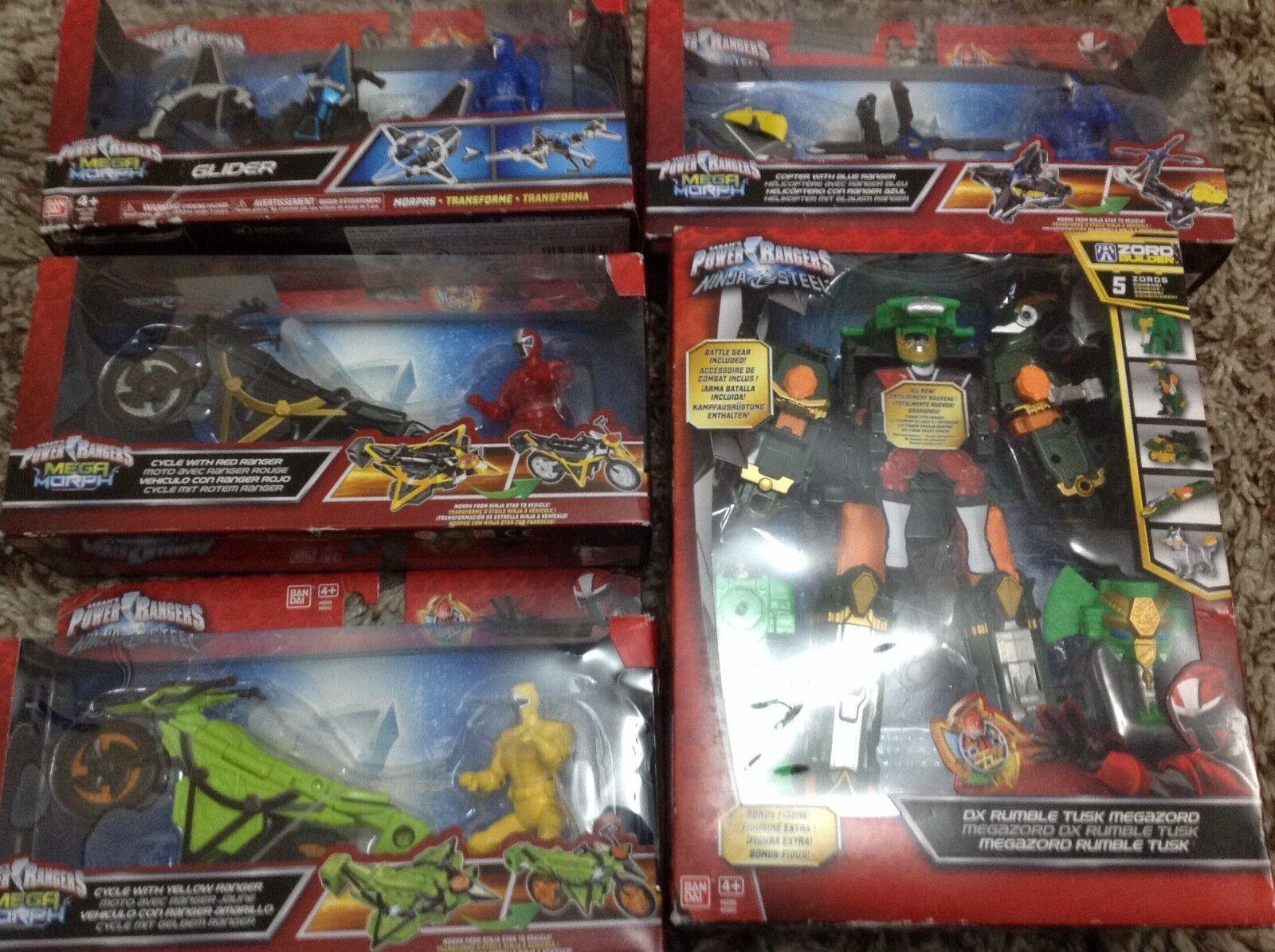 Power rangers ninja - deluxe rumble tusk megazord, mega - morph - zyklen, heli