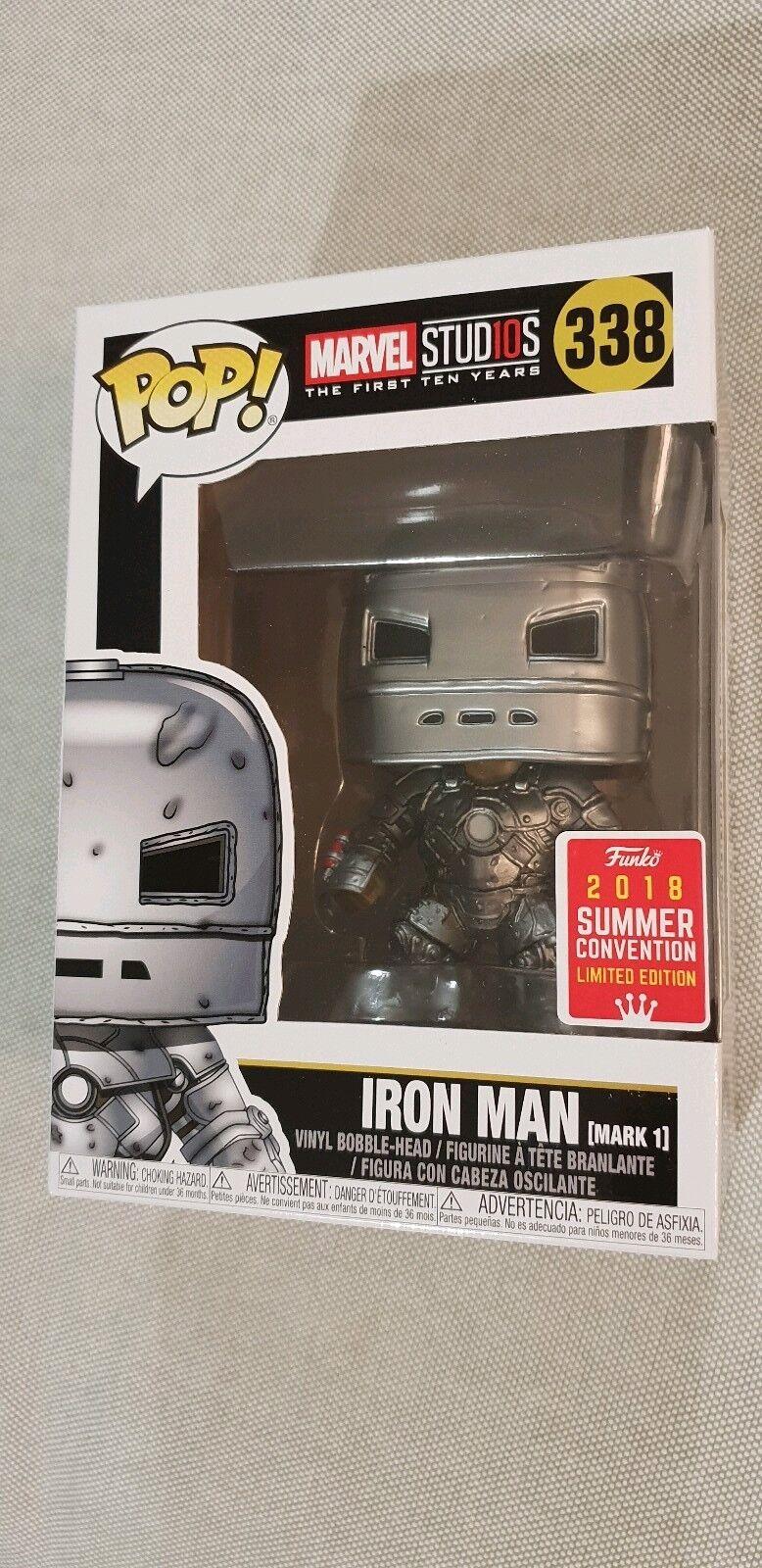 Funko Pop Iron Man ( Mark 1 ) 338 sdcc 2018 Marvel Studios The First Ten Years