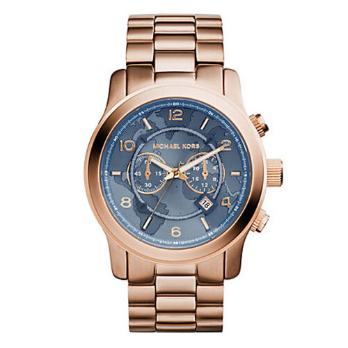 NEW MICHAEL KORS MK8358 ROSE GOLD HUNGER STOP 100 WATCH - 2 YEAR WARRANTY