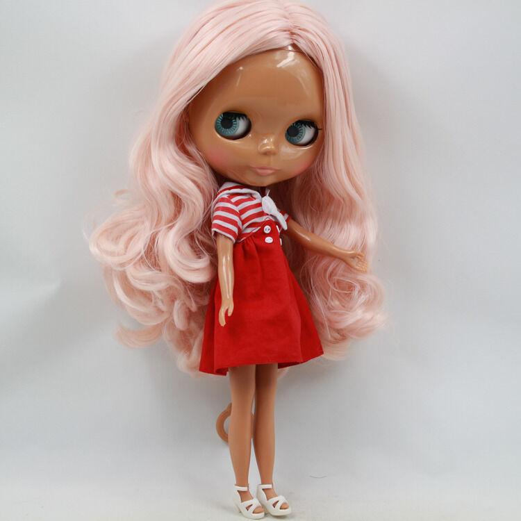 "Takara 12/"" Neo Blythe Dark Skin Nude Doll from Factory TBY134"