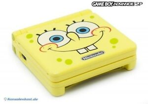 GameBoy-Advance-console-GBA-SP-AGS-101-Spongebob-Edition-power-supply