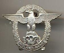 England AWAKE Bade pin back  WW11 German