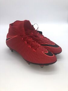 purchase cheap 4881e 0c2bd Details about Nike Hypervenom Phantom III 3 DF SG Soccer Cleats Red Black  Sz 6.5 881780-617