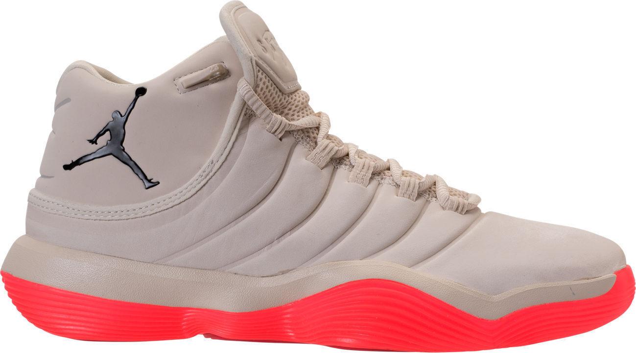 JORDAN SUPER. FLY 2017 Basketball shoes Sail Blk Infrared  Sz 14   921203 104 NIB