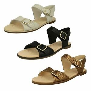 abb94031ce5a Image is loading LADIES-CLARKS-LEATHER-FLAT-BUCKLE-CASUAL-COMFY-SANDALS-