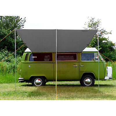 VW Campervan Sun Canopy Awning + T2 T25 Connection Kit - Anthracite Grey