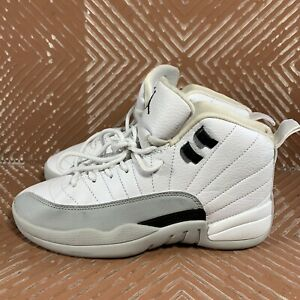 Nike-Air-Jordan-12-Retro-GG-GS-Barons-Size-5-5Y-Women-s-7-White-Black-Wolf-Grey