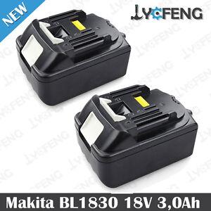 2X-Neu-Akku-Makita-85052-18V-3000mAh-Li-ion-BL1830-BL1815-194205-3-LXT400