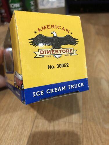 DimeStorePlastic Red and White Ice Cream Truck 1//43 New F1