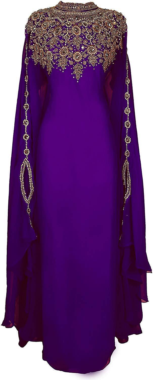 DUBAI MgoldCCAN KAFTANS ABAYA DRESS DRESS DRESS VERY FANCY LONG GOWN MS 1041741 fc811b