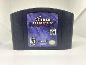 WWF No Mercy N64 (Nintendo 64, 2000) Auténtico, limpiado & trabajo!