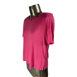 Casamia Exclusive Pink Top T-Shirt NEW UK S/M 10-12 (EU40) Women's RRP £25
