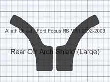 Ford Focus RS Mk1 large BLACK Tex Rear Qtr Arch Stone guard Protection protector