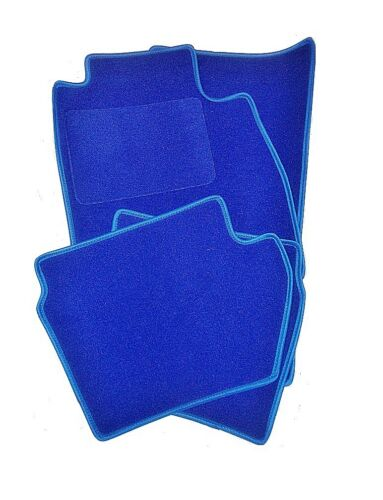 BLAUE LAGUNE Velours Matten Autoteppiche Fußmatten Blau VW TIGUAN II ab 2015
