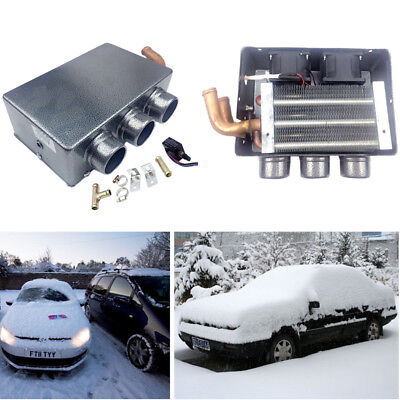 12V 80W Portable Car Heating Cooling Compact Heater 3 Hole Defroster Demister