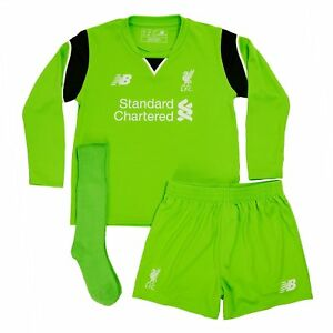 uk availability 428cb ebcce Details about Liverpool Kit Goalkeeper Kit Shirt Shorts & Socks 2016/17 New  Balance Official