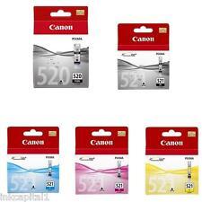 5 Canon Original OEM Pixma (CLI521 & PG520) Inkjet Cartridges For MP560, MP 560