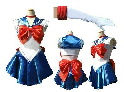 Soldier Sailor Moon Japanese Anime Cosplay Costume Whole Set,Customized Any Size