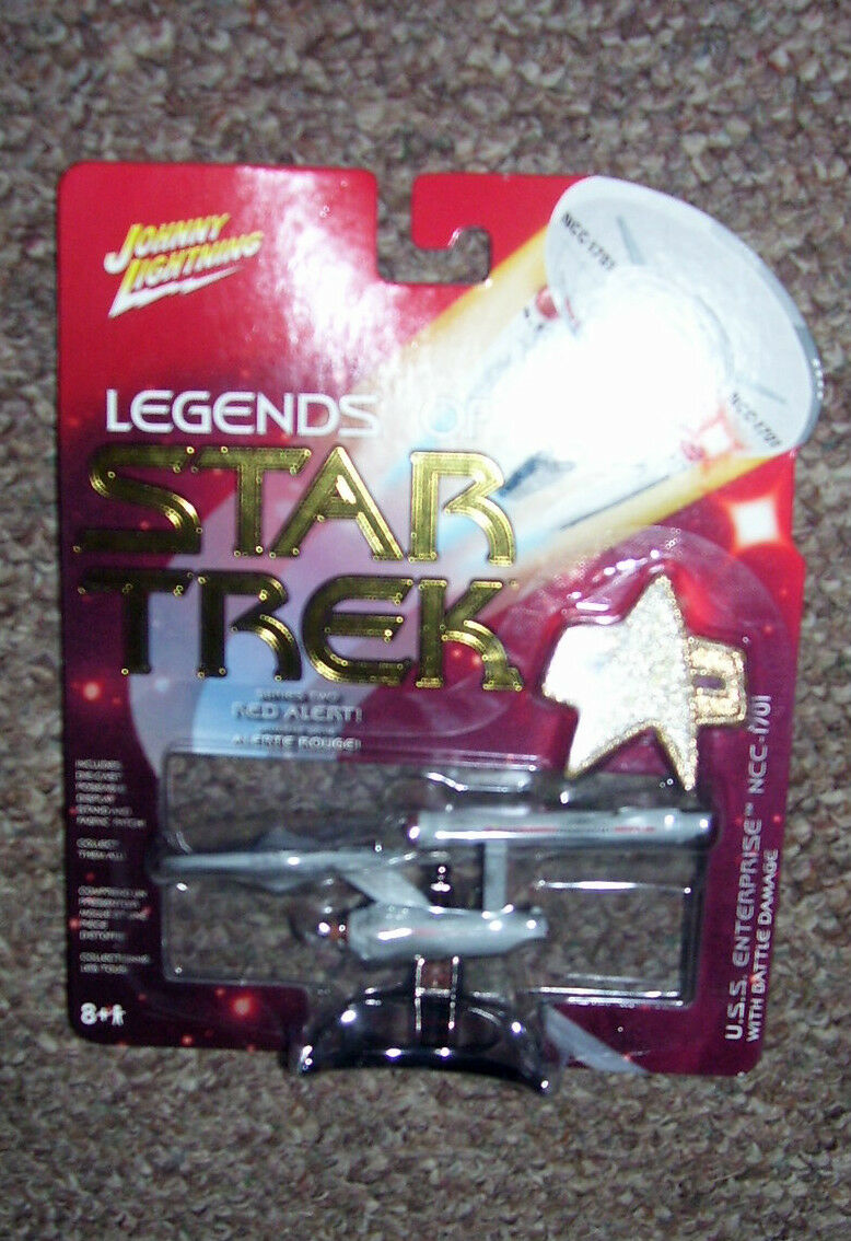 Johnny Lightning Star Trek 2005 USS ENTERPRISE 1701 series 2  RED ALERT with BD