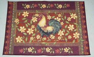 Mediterranean-Rooster-amp-Floral-Tapestry-Accent-Rug