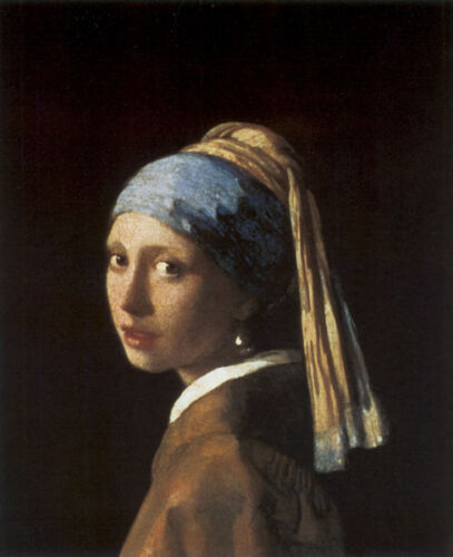 Girl with a Pearl Earring by Jan Vermeer 1665 Fine Art Poster Repro FREE S//H