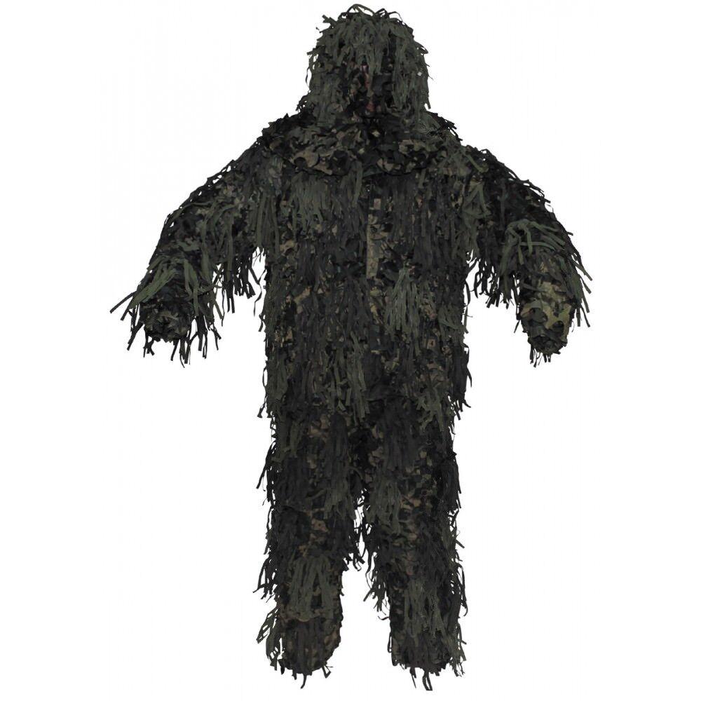 CAMUFLAJE GHILLIE Jackal 3-d body sistema Woodland camuflaje pantalones chaqueta sombrero nuevo