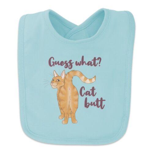 Guess What Cat Butt Baby Bib