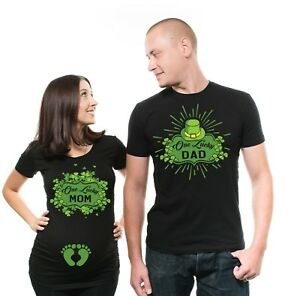 788c67c43 ST Patricks Day Couple Shirts Lucky Mom Lucky Dad Shirts Dad Mom ...