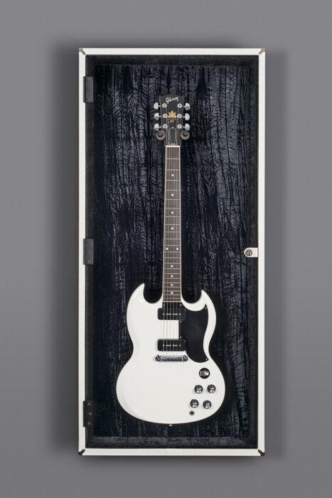 Guitar Display Case with String Swing Guitar Hanger