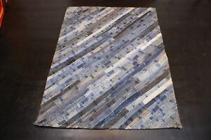 Upcycling-Vintage-Jeans-enim-Teppich-aus-Baumwolle-patchwork-blau-diverse-Groesse