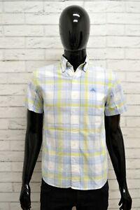 Camicia-ROBE-DI-KAPPA-Uomo-Taglia-XS-Maglia-Shirt-Man-Manica-Corta-Cotone-Quadri