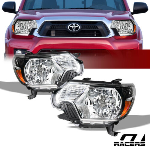 For 2012-2015 Toyota Tacoma Oe Chrome Housing Headlights Signal Lamps Amber Nb