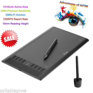UGEE-M708-10x6-039-039-Grafik-Tablet-USB-Grafiker-Grafiktablett-Touchpad-Stift-Pen-Neu