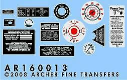 ARCHER FINE TRANSFERS 1//16 M16 HALFTRACK INSTRUMENTS /& PLACARDS FOR TSM16013