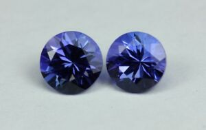 TANZANITE-ROUND-PAIR-1-88-TCW-NATURAL-GEMSTONE
