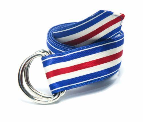 Madison Vintage Striped D Ring Ribbon Belt