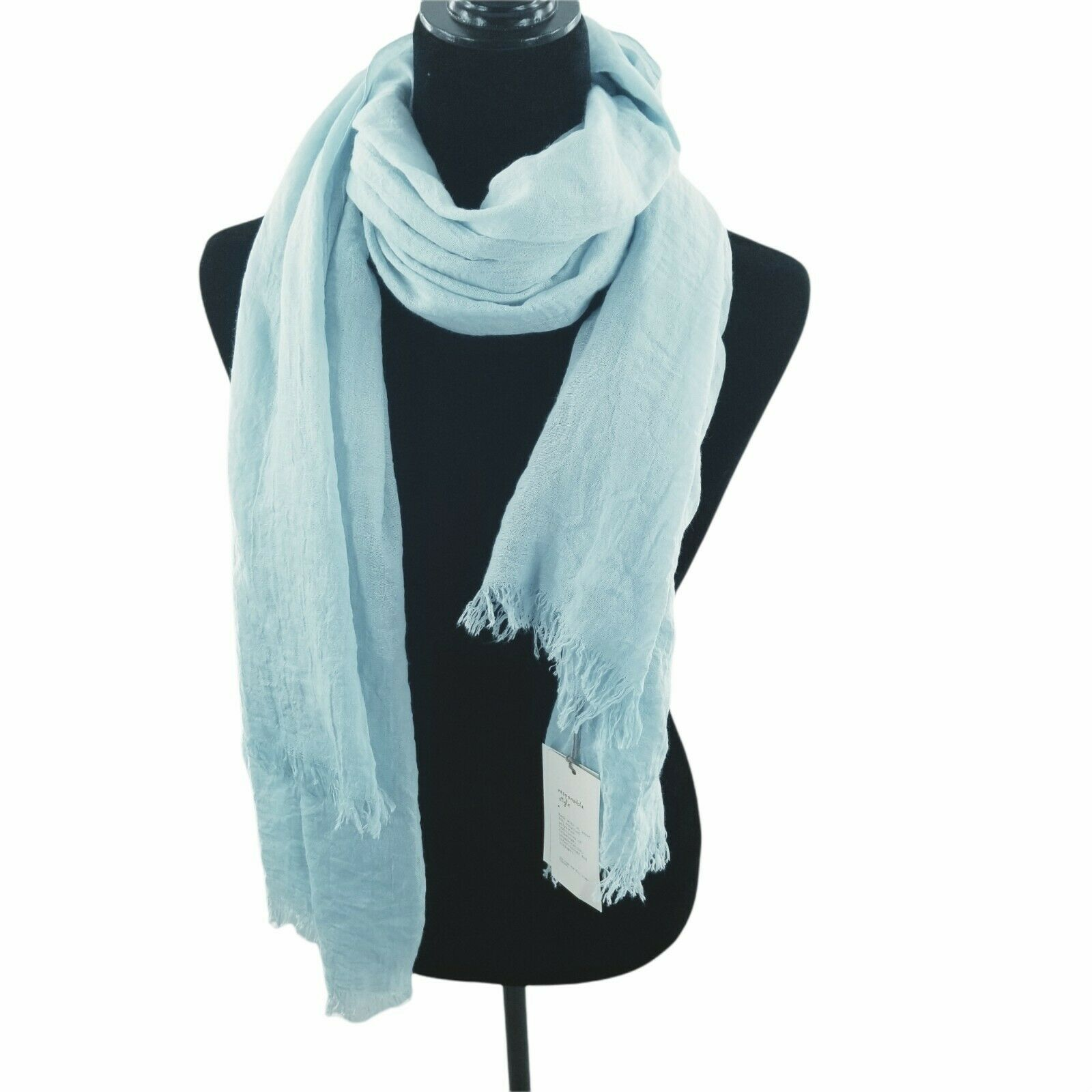 A New Day Oblong Scarf Blue One Size