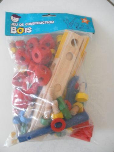 JEU DE CONSTRUCTION EN BOIS 106 PIECES