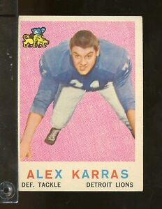 1959-Topps-103-ALEX-KARRAS-RC-Detroit-Lions-EX-NV5