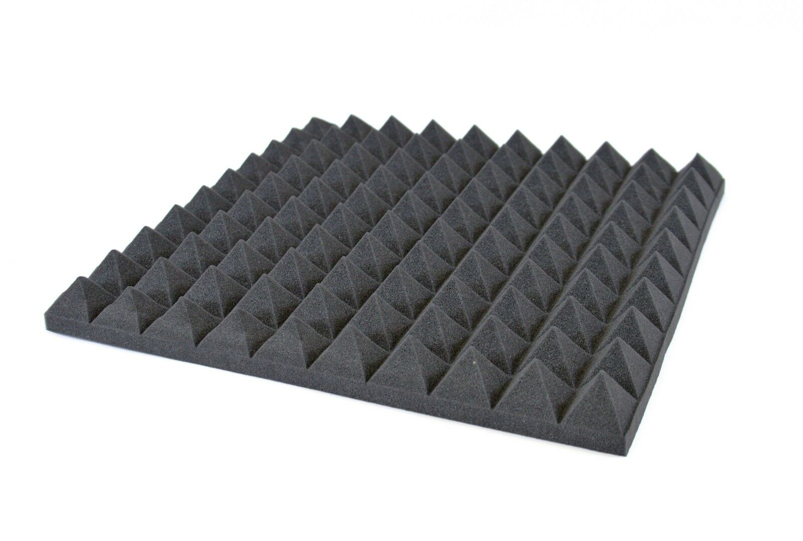 8x Fire Proof Acoustic Treatment Studio Music Foam SoundProofing 50 x 50cm grau